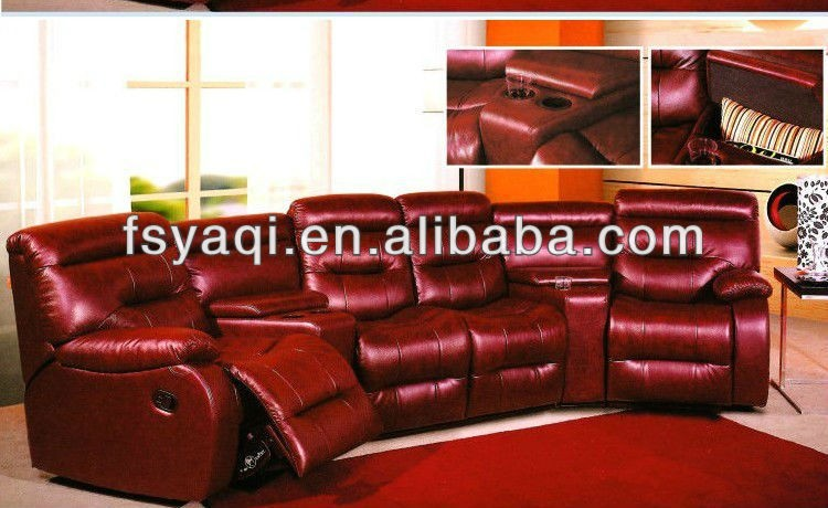 Foshan Low Price Furniture Set Cheers PU Leather Sofa Recliner