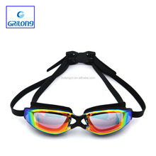 2017 Customized design silicone swimming goggles Simple Design Adult Swimming Googles
