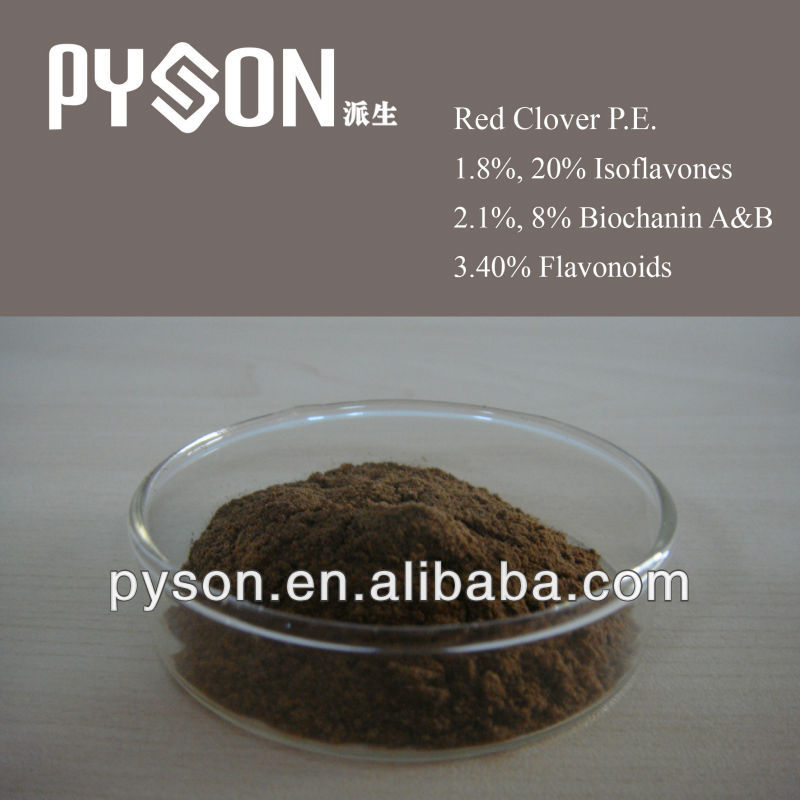 8%, 20% Isoflavones Red Clover P.E.
