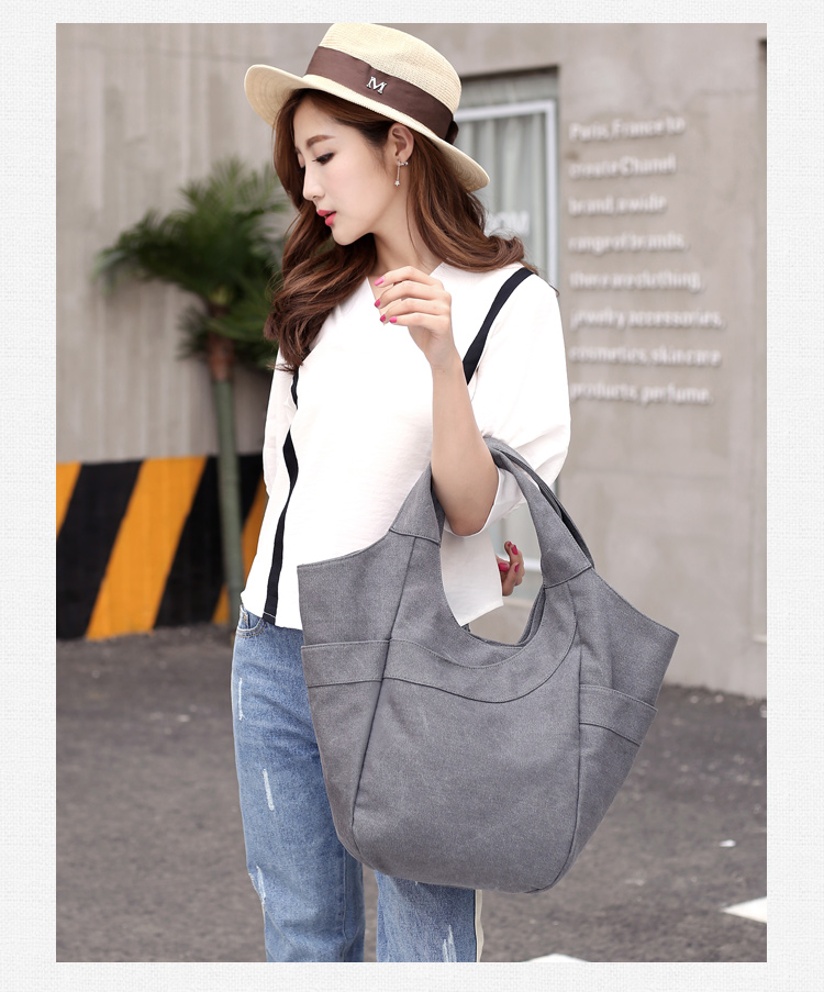 Promotional Women shoulder Bag Casual Teenagers Organic Cotton Canvas Tote Bag for books