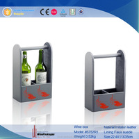wholesale 2 bottle products high quality display open wine box/wine carrier