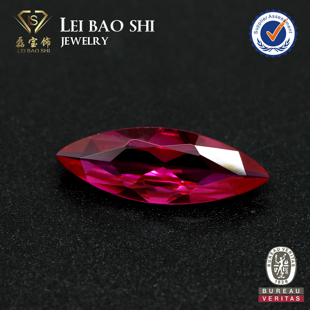 ruby corundum 5# marquise synthetic gems