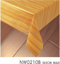 Wood like pvc surface cotton table cloth
