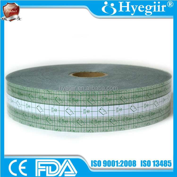 Custom designed super thin PU wound plaster and its raw material roll of 7.6cm x 500m (CE and FDA certificates)