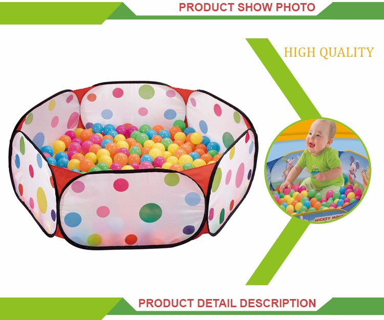 Top selling cartoon tent soft plastic ball pool baby play tent