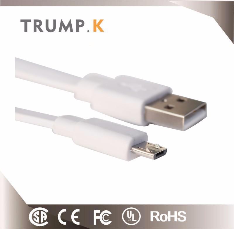 2017 Mico USB Plana Cabo de Dados Para O Telefone Móvel