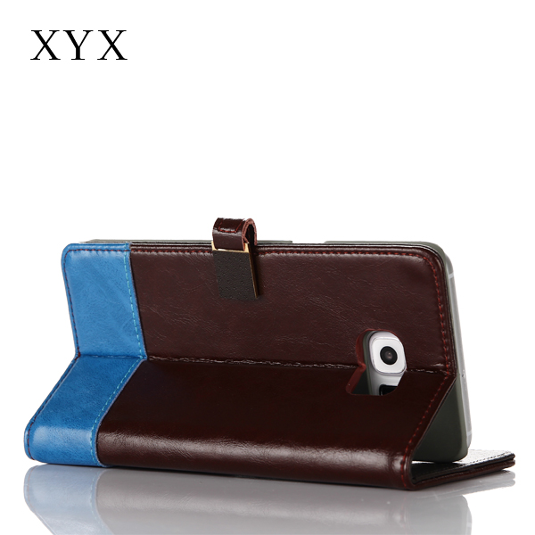 fashion style customised closure leather for s6 case, for samsung galaxy s3 s4 s5 s6 s6 edge note 2 3 4 j4 j5 j7