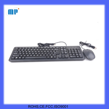 factory USB crater keyboard mouse combo for desktop and notebook