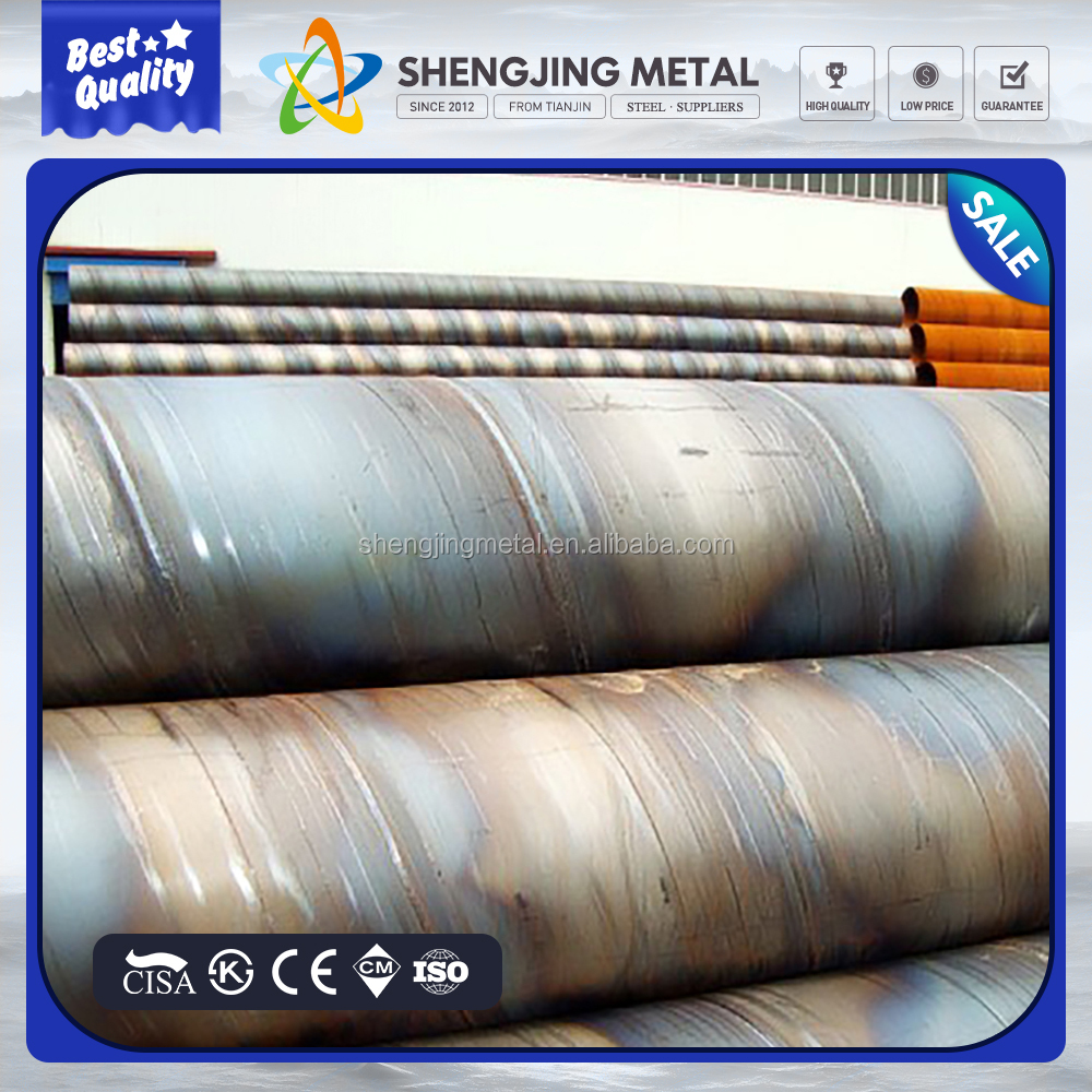 711*6.35mm bell end of SSAW weld steel spiral pipe for water power station building project made in TJSJ group