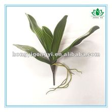 "12"" artificial hand-feel Butterfly Orchid leaves with root"