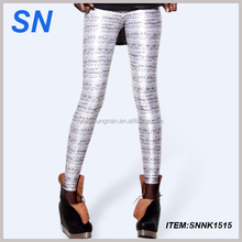 European and American Star Universe Planet milk silk printing Leggings women sexy jeans leggings tights