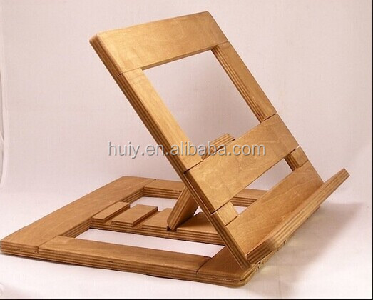 How To Make A Book Holder : Open wooden book stand table top lectern view