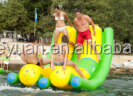 Floating seesaw promotion inflatable water seesaw kids game toys inflatable seesaw
