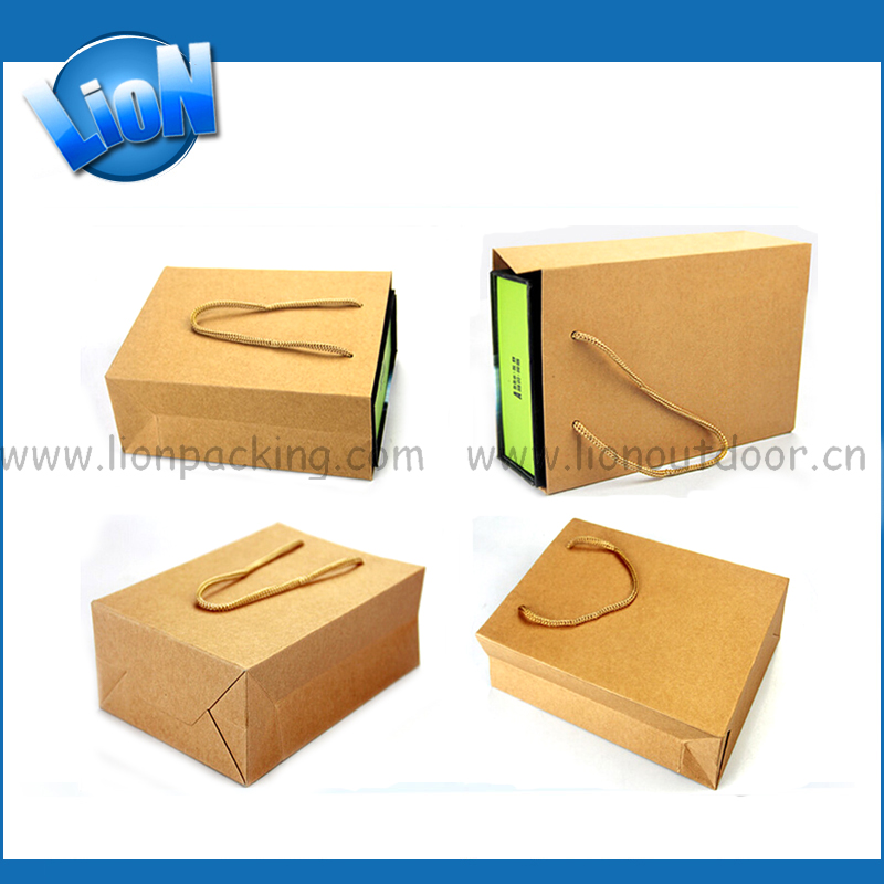 Customize Plain Large Brown Paper Bags With Handles