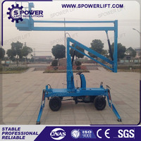 Height adjustable portable work mobile articulated lift platform