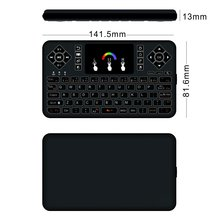 Q9 Mini Wireless 2.4g Touchpad Handheld Mini Backlit Keyboard