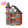 2018 New arrival victorian wooden girl doll house with painted W06A279