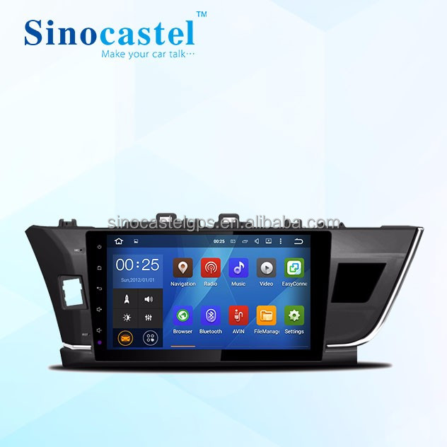 Factory OEM Toyota corolla android 5.1.1 car dvd player with wifi gps 2 usb port