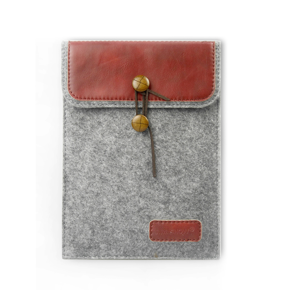 8 inch Pu Leather case Felt Sleeve pouch Bag For Tablet mini 2