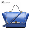 Fashion custom lady's hand bag satchel women 100% genuine leather handbag for women