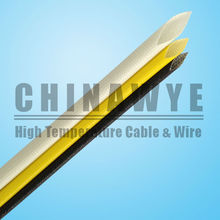 Fiberglass Braid Silicone Rubber Coated Cable Sleeve