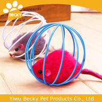 Hot sale colorful mouse in cage toys for cats