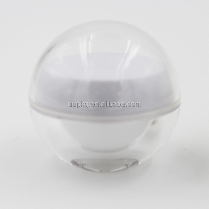 UU PACKAGING high quality 50g acrylic ball jar in gold color factory directly selling