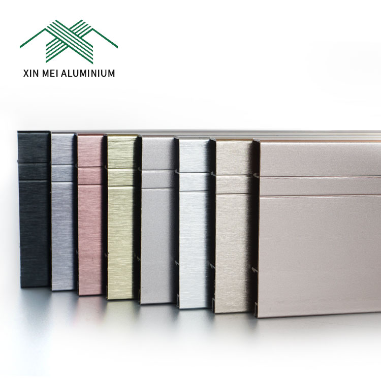 Outdoor Fire Rated Decorative Metal Strip Aluminum Skirting Board Laminate Flooring Accessory