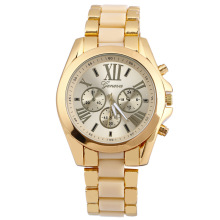 geneva gold band watch alloy men design fashion big dial oem watches cheap china supplier