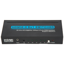 3D Ultra HD 4k*2k@60HZ 18Gbps 5 ports HDMI Switcher 5*1 2.0ver 5 in 1 out
