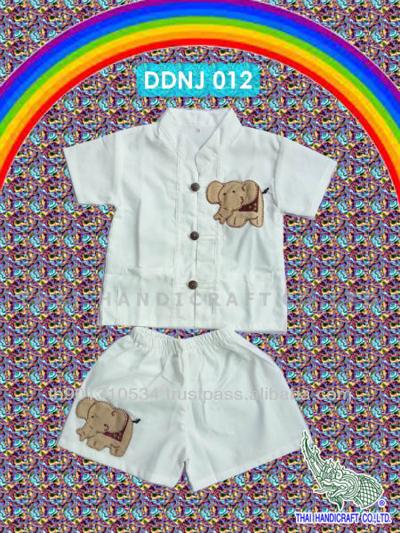 Thai Boy children's clothing Cotton elephant design