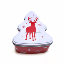 Popular tree shaped cookies tins /Christmas metal gift tin box