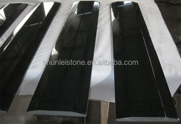 Absolute black granite with golden spot