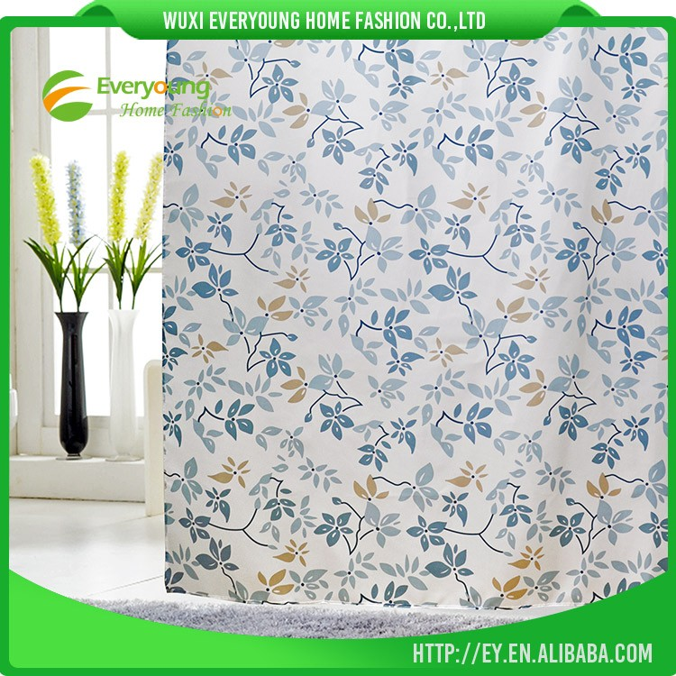 Hot Sale Wholesale Cheap Price Stylish Shower Curtain Liner With Hooks