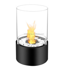Round Tabletop glass mini outdoor bio fireplace