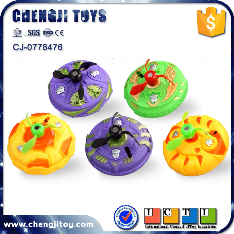 Promotional plastic super magnetic control spinning top toy