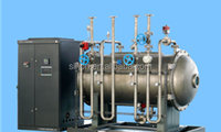 large industrial water distillation plant of waste water cleaning