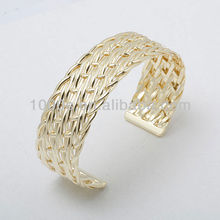 Gold plated twisted bracelet bangles