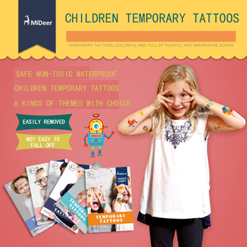 MIDEER children tatoo sticker funny waterproof sticker temporary 6 theme for options