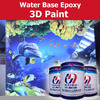 water based 3D epoxy paint top coat for interior wall or floor