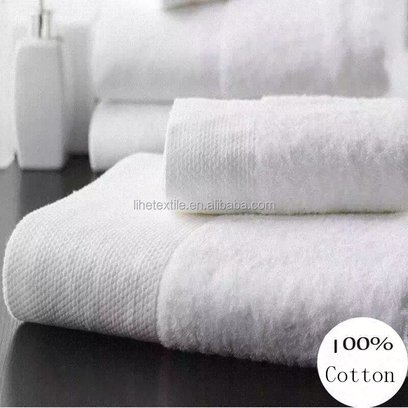 100% cotton hotel bathing towel with satin border 16S for 5 star hotel