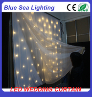 led star light backdrop LED curtain star cloth for wedding decorations