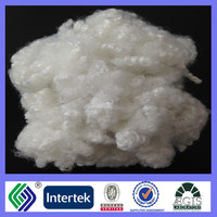 recycled polyester fiber for toys and pillows 15Dx64mm HCS raw white