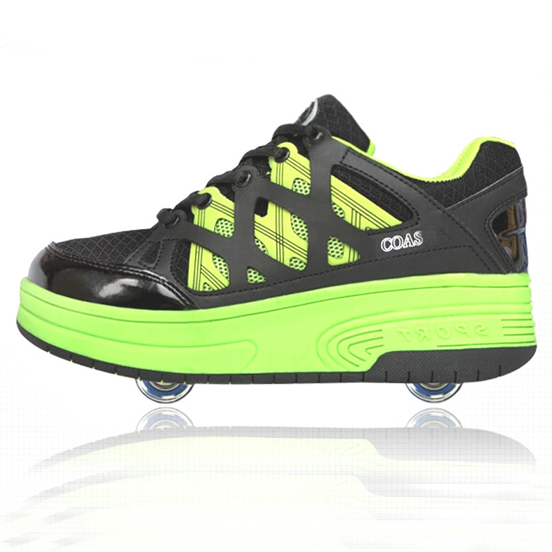 2018 High quality kids skating roller shoes one wheel or two wheels fashion skating shoes wheel roller skating shoes NO.050