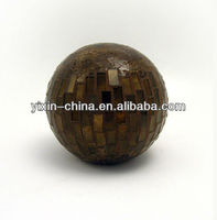 Mosaic Ball - Large Brown Glass Ball wedding decoration