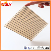 building materials plastic panel Anti-dripping Polycarbonate Hollow Sheet for greenhouse china
