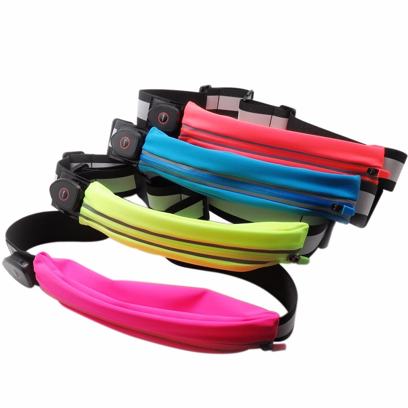 Adjustable LED USB Rechargeable Sports Running Waist Bag For Sports