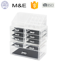 Acrylic Lipstick Holder Jewellery Box Makeup Organizers With 8 Drawers