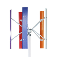 H model 5pcs Blades Vertical Wind Turbine Three phase AC Permanent Magnet Generator or Permanent Magnet Suspension Generator