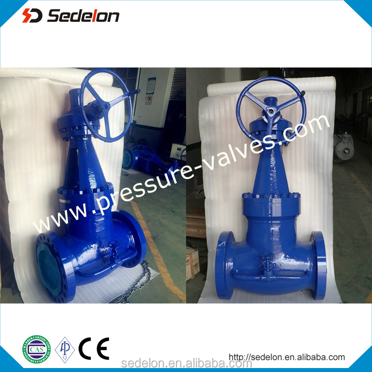 14'' 600lb Pressure Seal Sedelon Globe Valve with Bypass